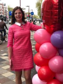 Fee G, jurkje in Chanel look, zomerse tweed stof