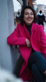 Tara Jarmon, roze wollen jas