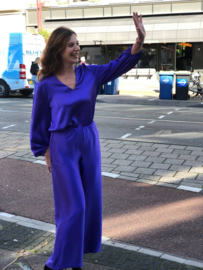 Toupy Paris, paarse pantalon, satijn