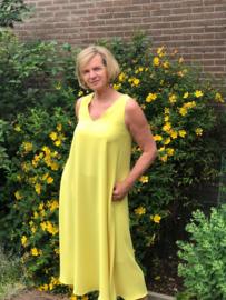 Lange jurk, geel