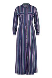 maxi blouse jurk  met zomerse  strepen