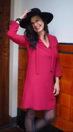 Tara Jarmon, rode jurk, losvallend model