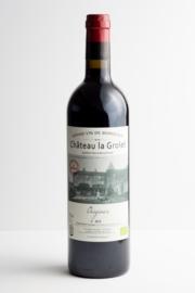 """Côtes de Bourg """"Prestige""""  Tête de cuvée. Chateau La Grolet Bordeaux. Biodynamische wijn."""