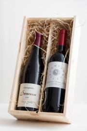 Wijnkist voor 2 flessen
