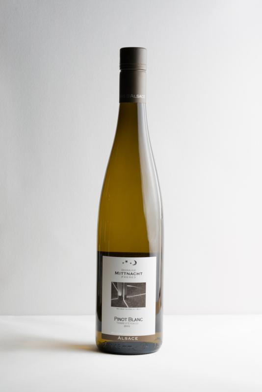 Mittnacht Pinot Blanc, Auxerrois.  Elzas. Biodynamische wijn.