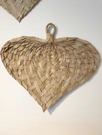 Hart van palm blad ca 77x73cm