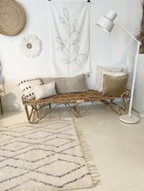 Berber handgeweven wit vloerkleed