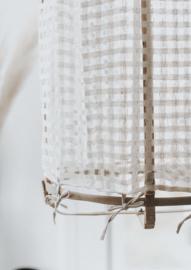 Hanglamp bamboe zijde offwhite