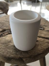 Waxinelichthouders wit ceramics