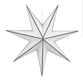 Papieren ster, wit zwarte streep