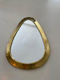 Spiegeltje ovaal goud