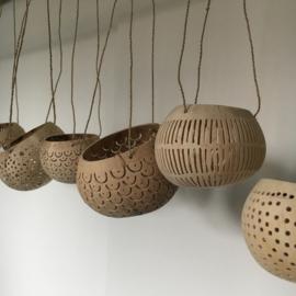 Kokosnoot waxinelicht hanger