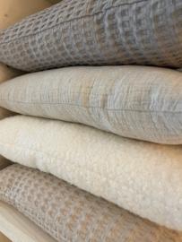 Kussens zand-steen-katoen-bouclé 50x30 / 50x50