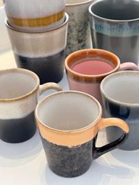 Keramiek Espresso 70s set van 4