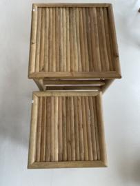 bamboe bijzettafeltjes