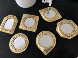 Spiegel klein goud