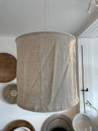 Linnen lamp beige-grijs