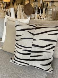 Kussen zebra leer
