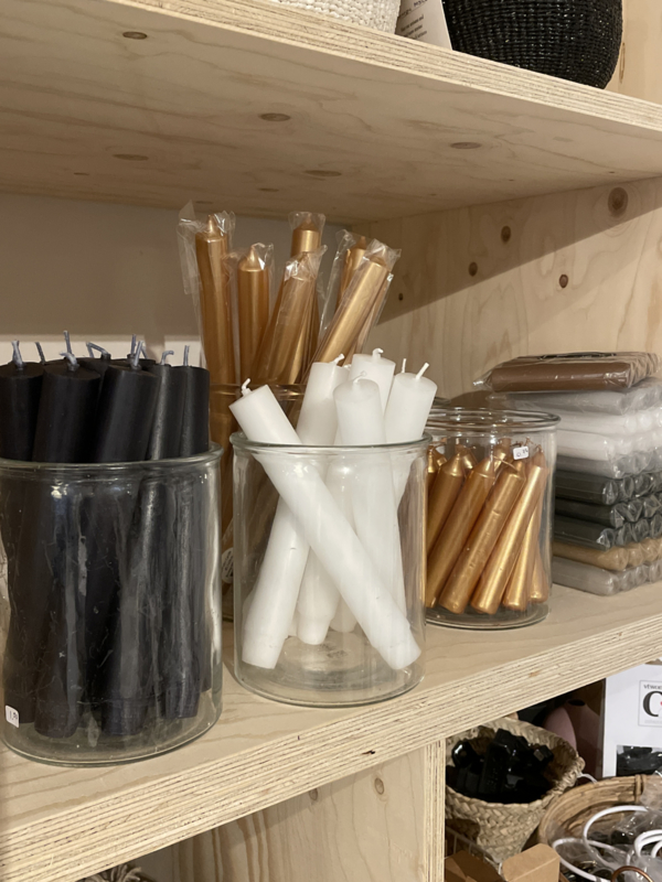 Kaarsen wit of zwart