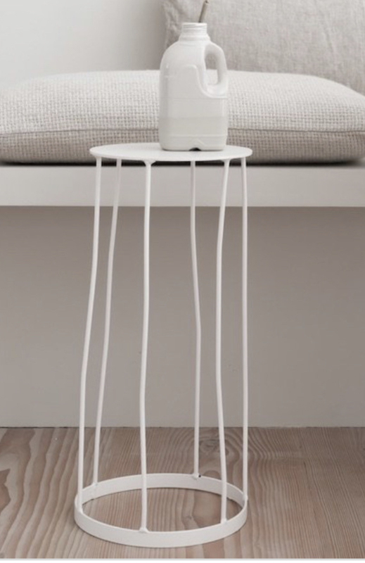 Decoratieve bijzettafel wit