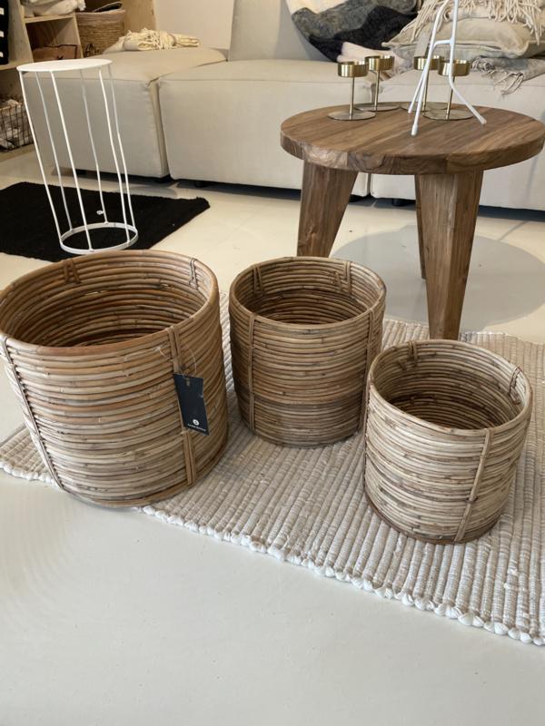 Mand bamboe naturel