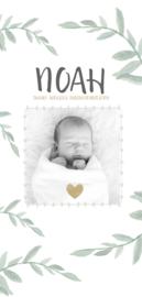 Geboortekaartje met watercolor takjes I B-004