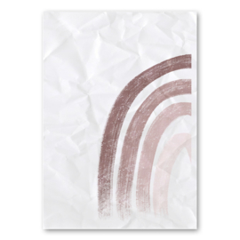 A4 - Canvas poster - regenboog half
