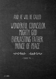 Poster A5, Isaiah 9:6