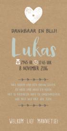 Label kaartje Lukas I B-003