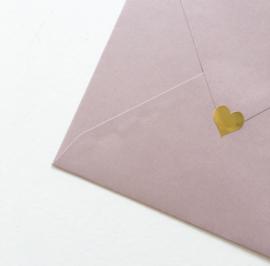 Sluitsticker, gouden hartje klein