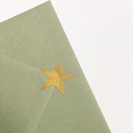 Sluitsticker: gouden ster