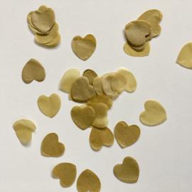 Confetti hartjes: goud