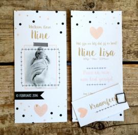 Fotokaart met hartje en confetti I G-003
