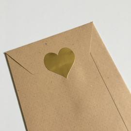 Sluitsticker, gouden hartje