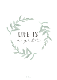 A5 poster, Life is gift