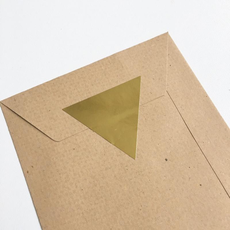 Sluitsticker: gouden driehoek