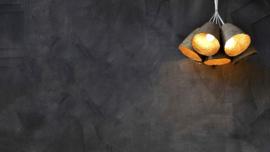 Quazi paper pulp lamp S zwart