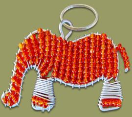 Beaded Keyring elephant