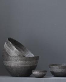 paper bowl black stitch S