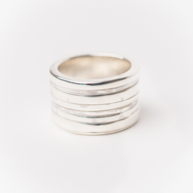 Zilveren bandjesring