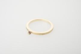 Ring plat met robijn