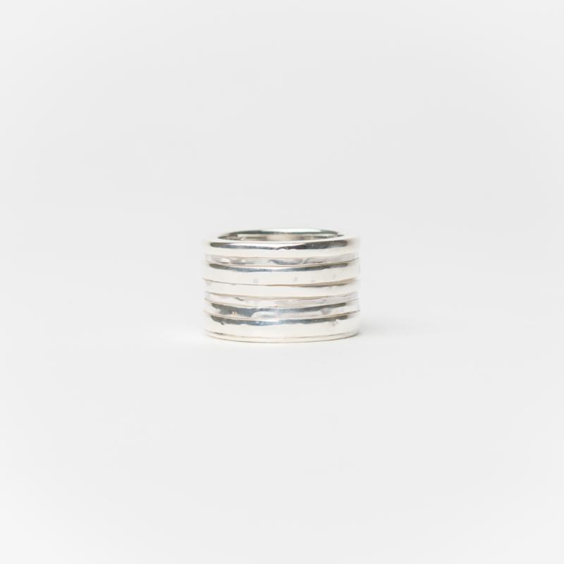 Zilveren brede bandjesring