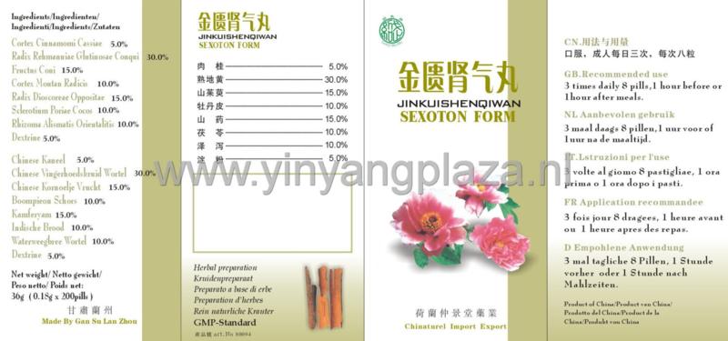 Jin Kui Shen Qi Wan - Sexoton Form - 金匮肾气丸