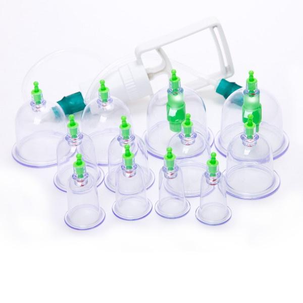 *Sale * Cupping set met  pomp   12 stuks