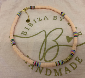 Bibiza By Bar Ibiza Disc Ketting Zalm