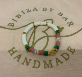 Bibiza By Bar Ibiza Disc Armband Lila/Groen