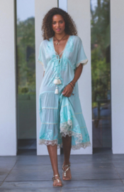 Always The Sun Long Dress Amazonite Aqua