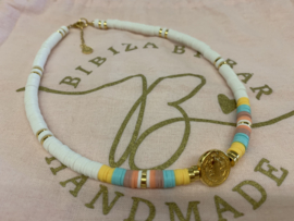 Bibiza By Bar Coin Colours Ketting Blue/Yellow