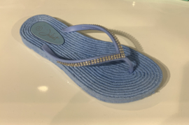 Slippers Strass Blue
