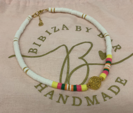Bibiza By Bar Coin Colours Ketting Pink/Yellow